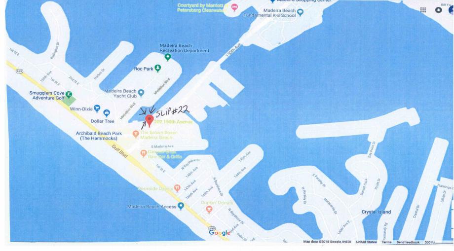 Madeira Beach Florida Map.Directions Madeira Beach Johns Pass Florida Fishing Charters